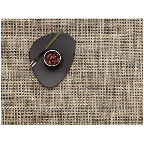 Placemat Basketweave Rectangle Bark
