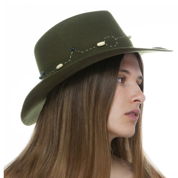 Olive Wool Hat