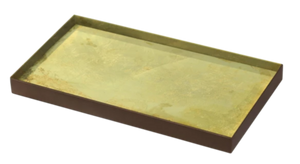 Gold Leaf Mini Tray - Medium, Notre Monde