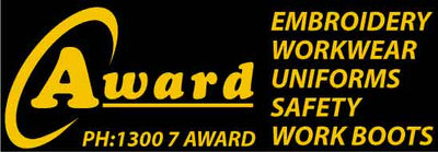Award Supplying leading Brands FXD Workwear, Cat Workwear, Bisley Workwear, Hard Yakka, King Gee, Steel Blue, Blundstone, Mongrel, Jb's Wear, Syzmik, Biz Collection
