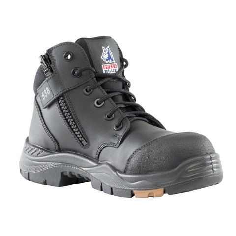 Footwear - Steel Blue Parkes Zip Composite Toe Safety Work Boots