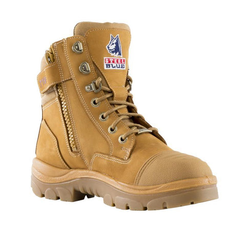 Footwear - Steel Blue Southern Cross Ladies Steel Cap Zip Sided Scuff Cap Safety Work Boots