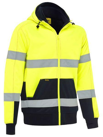 High Vis Clothing - Bisley Hi Vis Hoodie Taped Fleece With Sherpa Lining