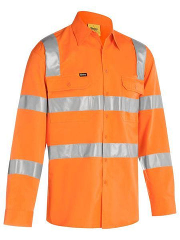 High Vis Clothing - Bisley Hi Vis Shirt Taped Bio Motion Rail Shirt