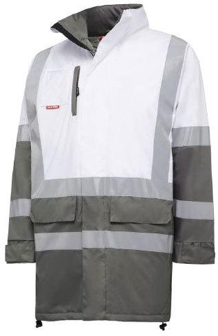High Vis Clothing - Hard Yakka Jacket Biomotion Tapped Infrastructure With H Front And X Back