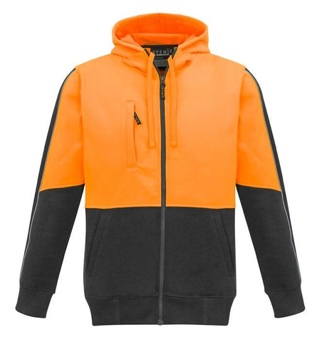 High Vis Clothing - Syzmik Hi Vis Hoodie Unisex Full Zip