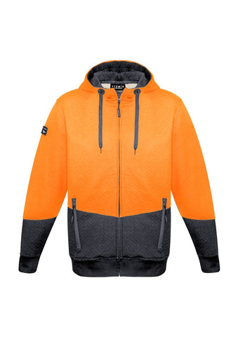 High Vis Clothing - Syzmik Hi Vis Hoodie Unisex Textured Jacquard Full Zip