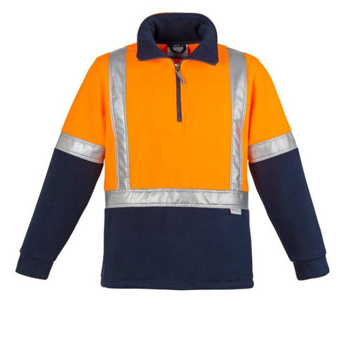 High Vis Clothing - Syzmik Hi Vis Jumper Mens Fleece Shoulder Taped