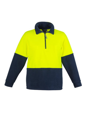 High Vis Clothing - Syzmik Hi Vis Jumper Unisex Half Zip Fleece