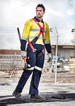 High Vis Clothing - Syzmik Hi Vis Overall Taped Rugged Cooling