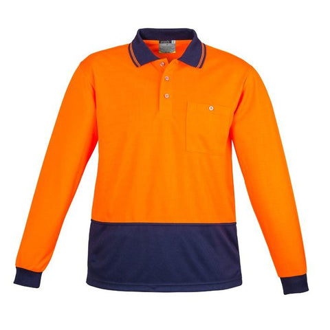 High Vis Clothing - Syzmik Hi Vis Polo Shirt Basic Spliced Long Sleeve