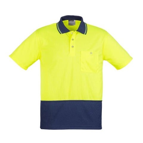 High Vis Clothing - Syzmik Hi Vis Polo Shirt Basic Spliced Short Sleeve