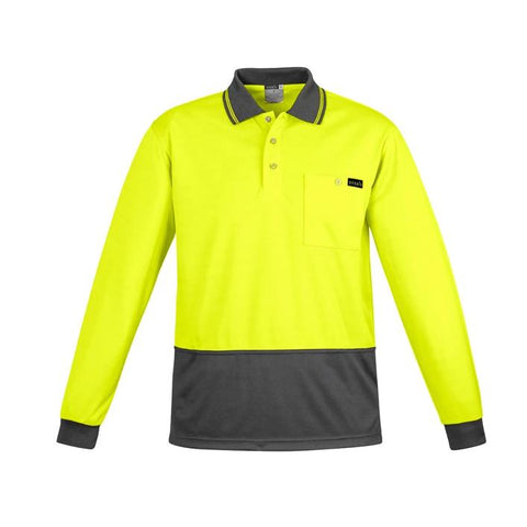 High Vis Clothing - Syzmik Hi Vis Polo Shirt Mens Comfort Back Long Sleeve