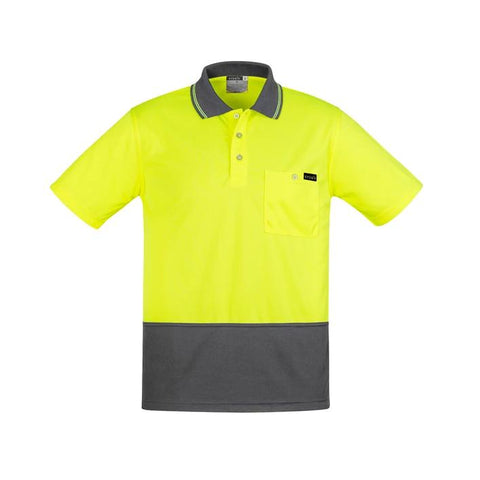 High Vis Clothing - Syzmik Hi Vis Polo Shirt Mens Comfort Back Short Sleeve