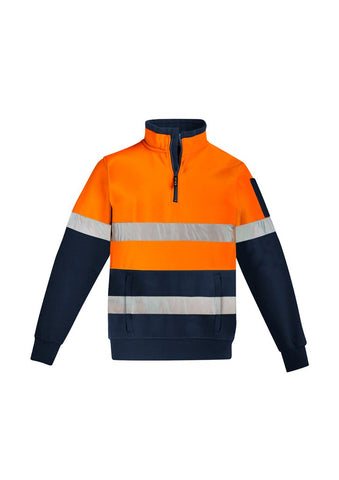 High Vis Clothing - Syzmik Hi Vis Pullover Mens 1/2 Zip Hoop Taped