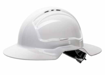 Safety - Force360 Broad Brim Hard Hat Vented 6 Point Ratchet Type 1
