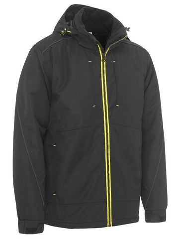 Workwear - Bisley Flex And Move Wet Weather Jacket Heavy Duty Dobby