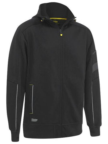Workwear - Bisley Hoodie Zip Front Work Fleece With Sherpa Lining