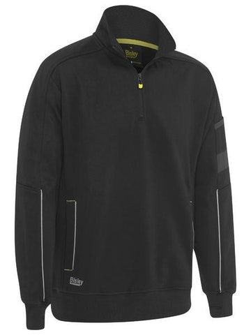 Workwear - Bisley Pullover 1/4 Zip Work Fleece With Sherpa Lining