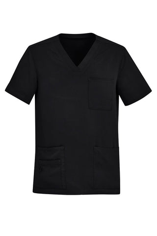 Workwear - Biz Care Mens Scrub Top Easy Fit Vee Neck