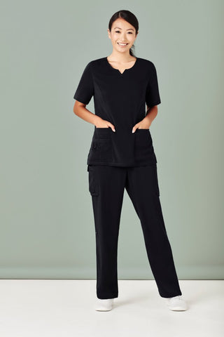 Workwear - Biz Care Womens Scrub Pants Multi Pocket Straight Leg