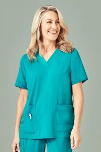 Workwear - Biz Care Womens Scrub Top Easy Fit Vee Neck
