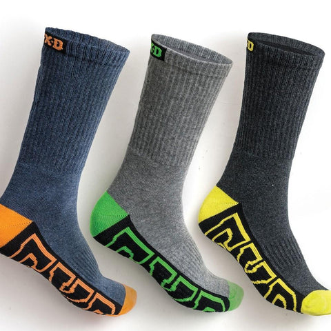 Workwear - FXD Work Sock Multi Coloured Core Long 5 Pack