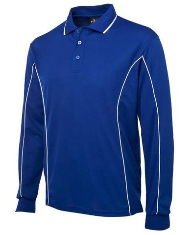 Workwear - Podium Polo Shirt Cool Poly Piping Long Sleeve