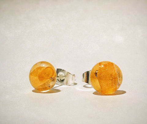 100% recycled Irish crystal earrings