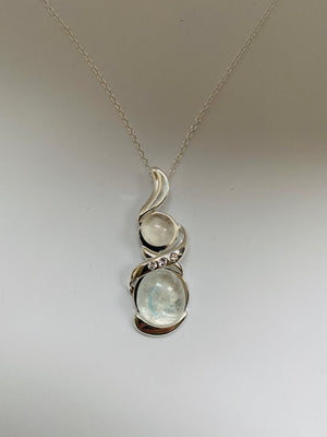 Two stone pendant 50% OFF, NOW £85
