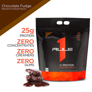 Rule 1 Protein - 4.56 kg (152 Serving, Chocolate Fudge)- Isolates and Hydrolysed