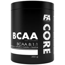 Load image into Gallery viewer, FA CORE BCAA 350gm 40 Servings (Cherry Ice)