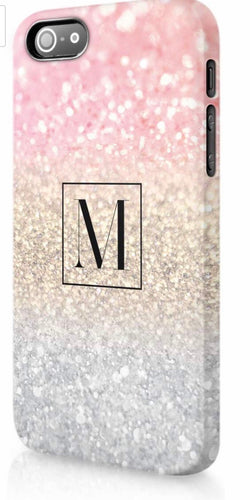 Rainbow Ombré Glitter Personalised Phone Case