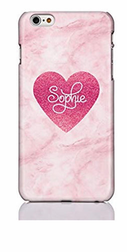 Marble Heart Personalised Phone Case