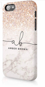 Glitter Marble Personalised Phone Case