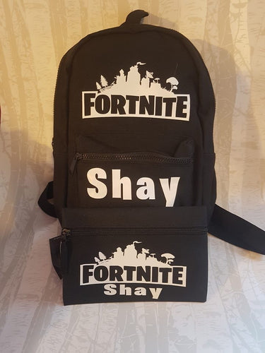 Personalised Backpack and Pencil Case Set