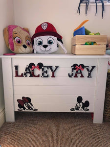 Handmade Personalised Toy Boxes