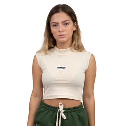 CAMISETA CROPPED KINGS SNEAKERS BASIC BEGE