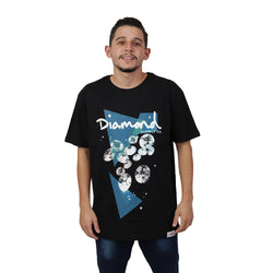 CAMISETA DIAMOND GALATIC TEE PRETO