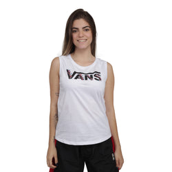 CAMISETA REGATA VANS BUNDLEZ MUSCLE BRANCO