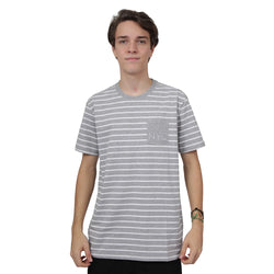 CAMISETA NEW ERA FASHION STRIPE CINZA