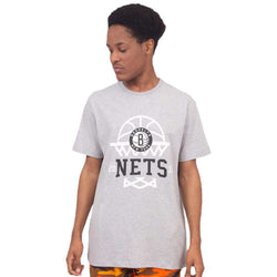 CAMISETA NEW ERA  NETS CINZA MASCULINO