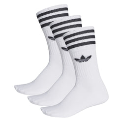 MEIA ADIDAS SOLID CREW 3PP BRANCO