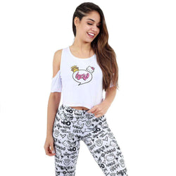 CROPPED KINGS X HELLO KITTY BRANCO
