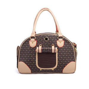 Designer Pattern Leather Cat Carrier
