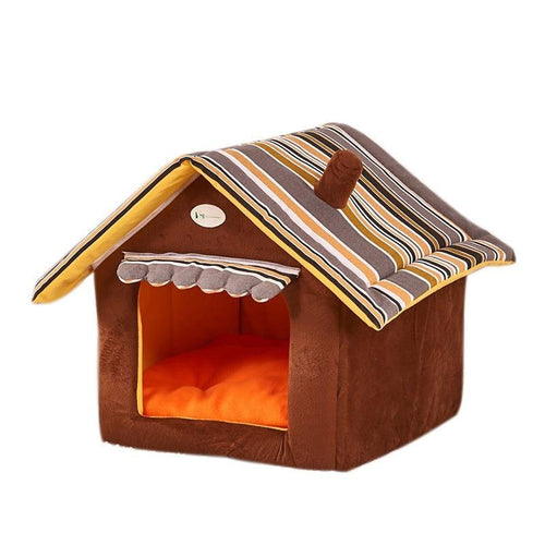Soft House Shape Cat Bed