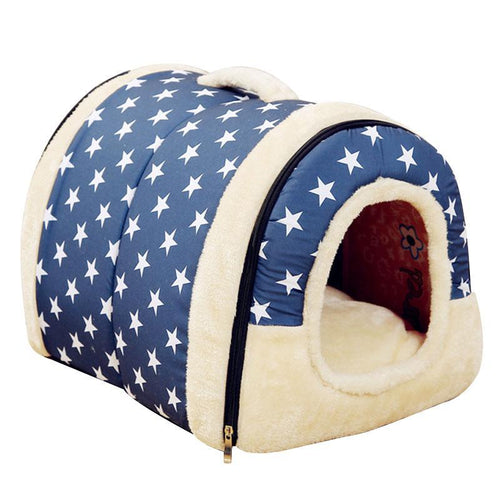 Star Design Plush Cat House