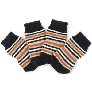 Striped Brown Cotton Socks