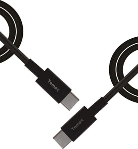 USB-TYPE-C to TYPE-C 1.8m black cable