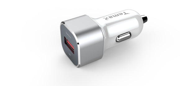 Temax 1 Port fast car charger 18W